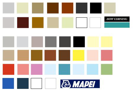 wide range of mastic colours available